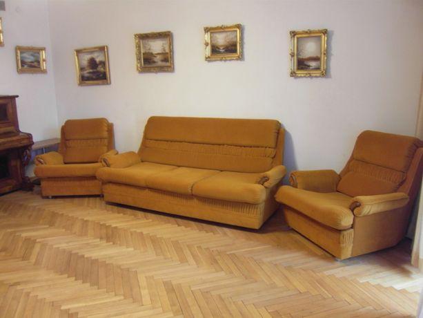 Komplet wypoczynkowy sofa 3-osobowa z funkcją spania 2 fotele