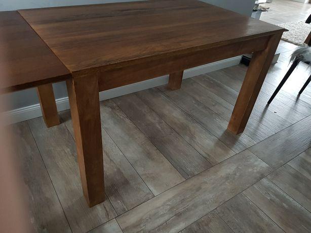 Stół drewniany stół dębowy 80x120, plus przystawki 80x200 buk