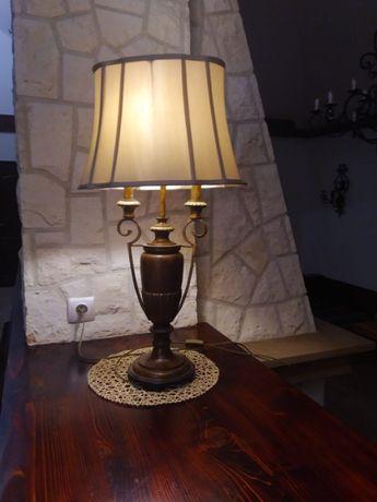 Lampa stojaca abażurowa