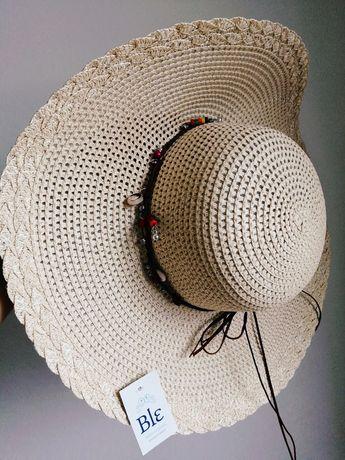 Nowy kapelusz grecki słomkowy letni duży