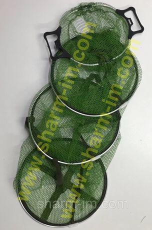 Садок с пластиковыми ручками, Прорезиненная сетка 170 см Диаметр 40 см