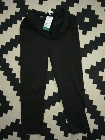 Nowe legginsy ciążowe hm 3/4 rozmiar L 2 szt 50 zl