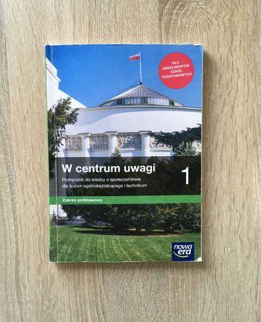 Podręcznik WOS W centrum uwagi 1 zakres podstawowy Nowa Era
