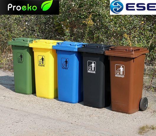 Kontener pojemnik kosz 120L 240L śmieci odpady nowy segregacja i bio