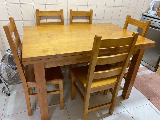 Mesa cozinha madeira