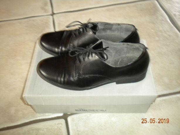 Buty skórzane czarne galowe Kornecki r. 33