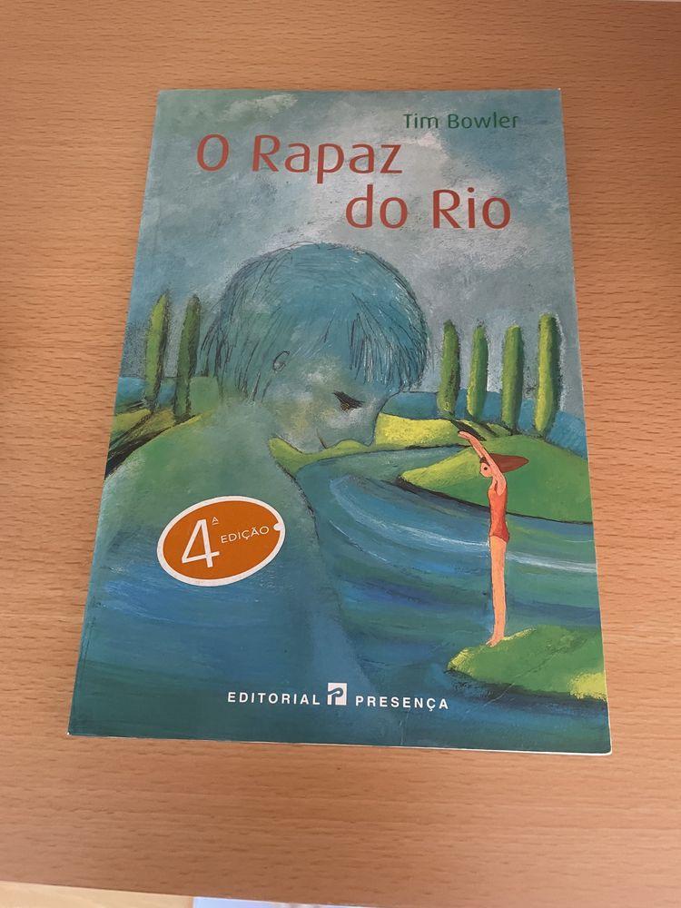 """Livro """"O rapaz do rio"""" de Tim Bowler"""