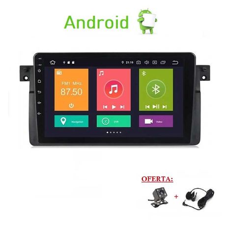 (NOVO) Rádio 2DIN BMW E46 • Android 2+16GB • GPS • 320 318 Serie 3