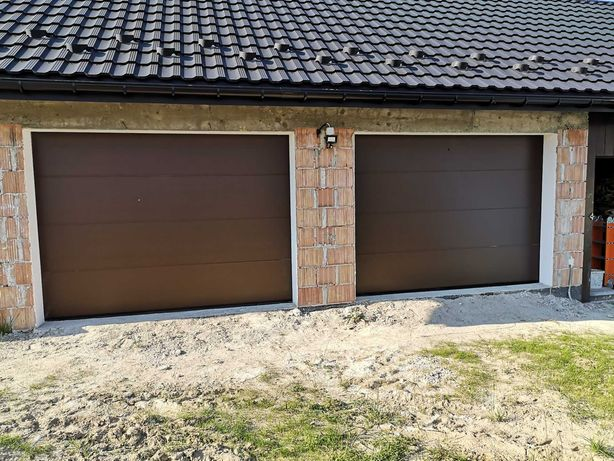 Brama garażowa segmentowa 2500X2125 BRĄZ , BIAŁA