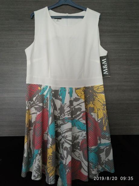 R.46 sukienka rozkloszowana