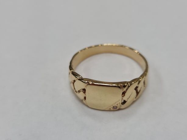 Klasyczny złoty sygnet damski / męski/ 6.66 gram/ 585/ R31/ sklep