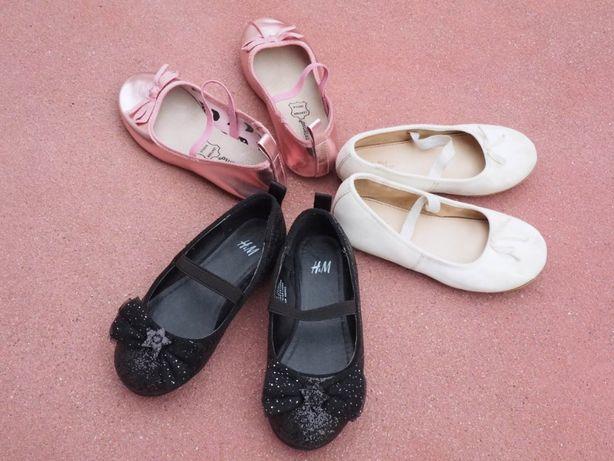 Sapatos Primavera/Verão de Menina - Preto / Rosa / Branco - como Novos