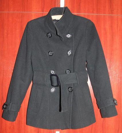 Płaszcz czarny flauszowy rozm.38