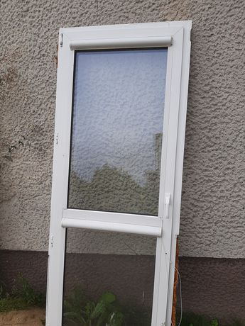 Okna PCV brązowo-białe
