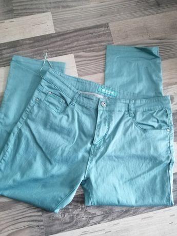 Turkusowe miętowe spodnie damskie 46