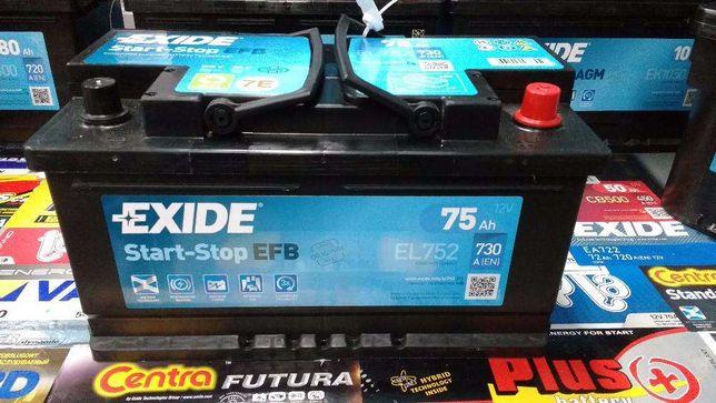 Akumulator Exide EFB EL752 12V 75Ah 730A P+ Kraków CL752