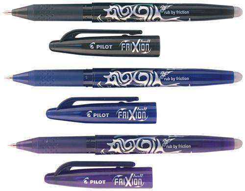 Ручки роллеры Pilot Frixion пиши-стирай + стержни