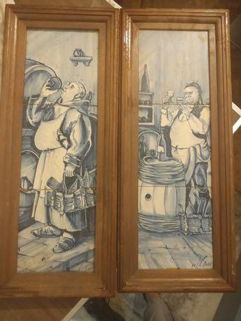 Par de Quadros de Azulejos Tradicionais Portugueses