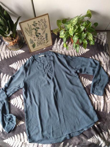 Koszula bluzka damska petrol niebieski gołębi Amisu S