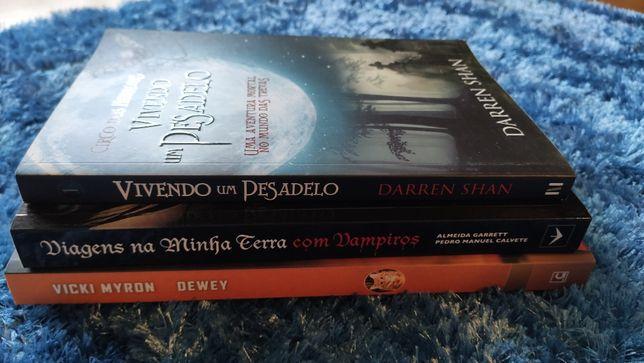 Livros como novos cada 5€ (Vicki Myron, Darren Shan, entre outros)