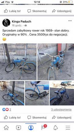 Zabytkowy rower 1959 rok