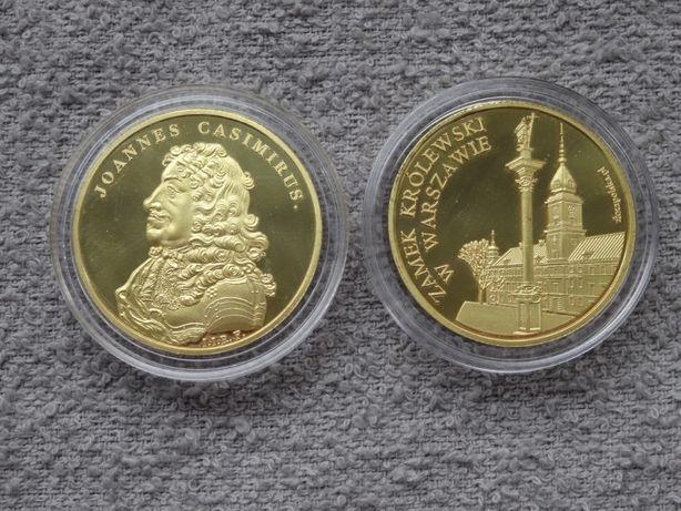 Jan II Kazimierz Waza + Zamek Królewski W-wa _Złota Polska medal NOWY