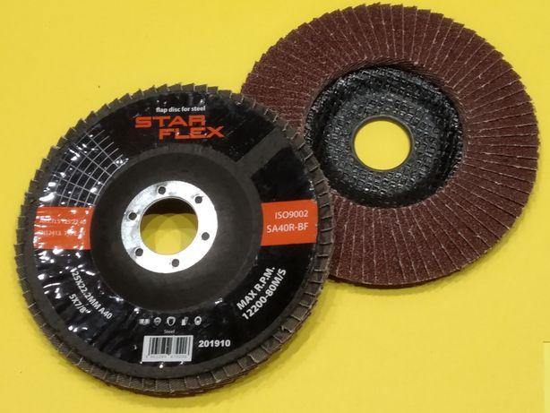 STAR FLEX 10szt tarcza listkowa ściernica 125x22 P40