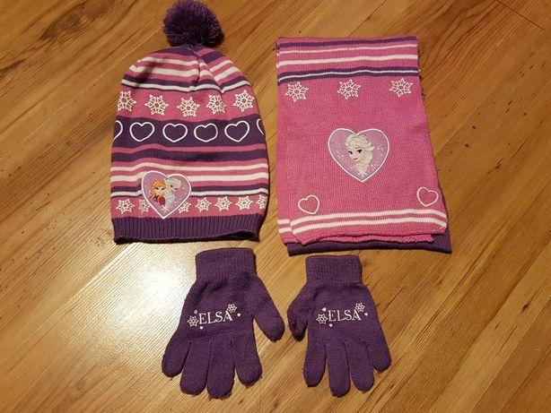 Komplet czapka, szalik ,rękawiczki Krxina lodu