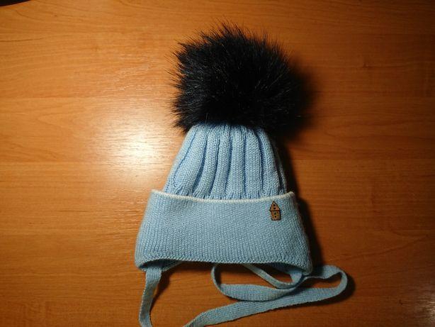 Зимняя шапка шапочка 6-12