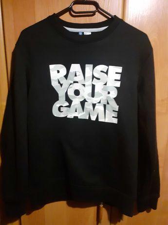Bluza męska czarna z napisem - H&M