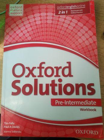 Sprzedam ćwiczenia Oxford Solutions Pre-Intermediate.