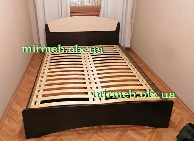 Двуспальная Кровать Дакота 140х200 с Деревянными Ламелями!