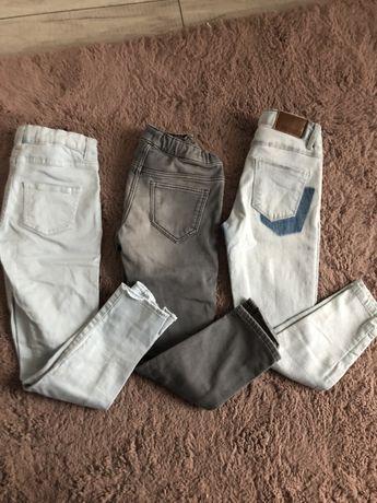 Spodnie  3szt jeansy 122-128 reserved
