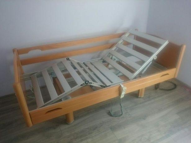 Ładne meblowe łóżko rehabilitacyjne i nówka materac w zestawie i