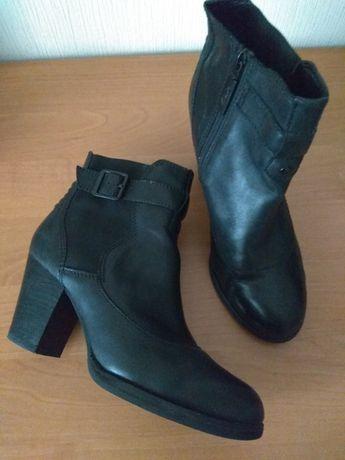 Ботильоны, ботинки женские кожаные