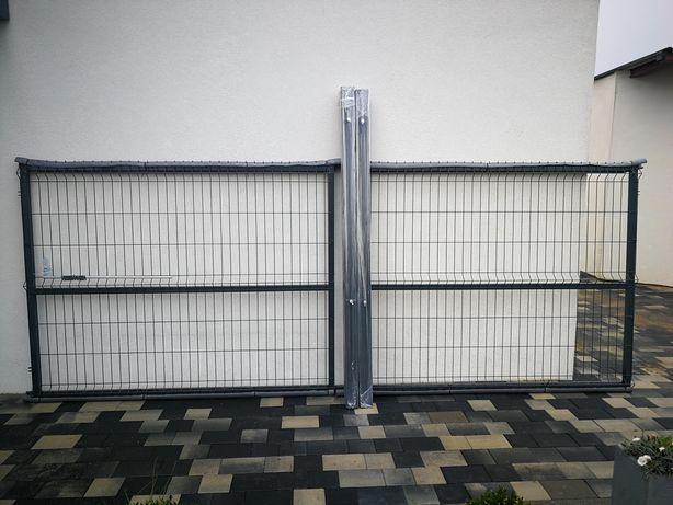 Brama Panelowa brama wjazdowa h-1,53 4mb słupek 80x80