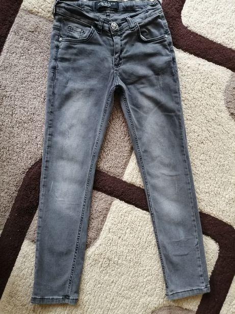 Продам джинсы серые зауженные Philipp Plein