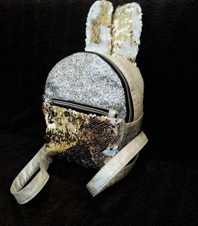 Рюкзак-кролик с переливами