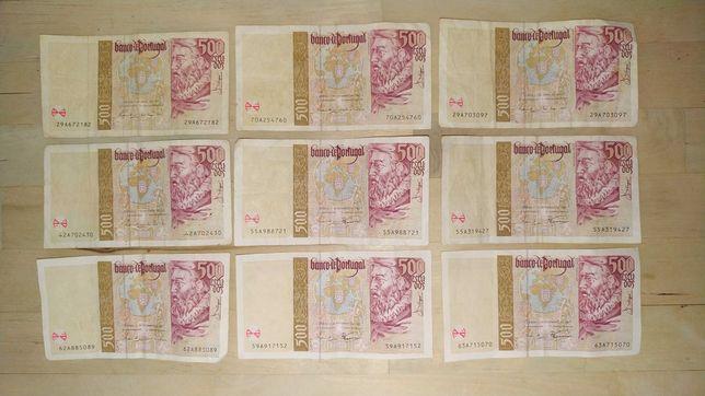 Notas 500$ escudos circuladas