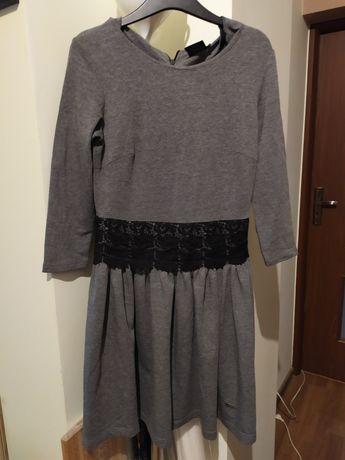 Sukienka damska szara