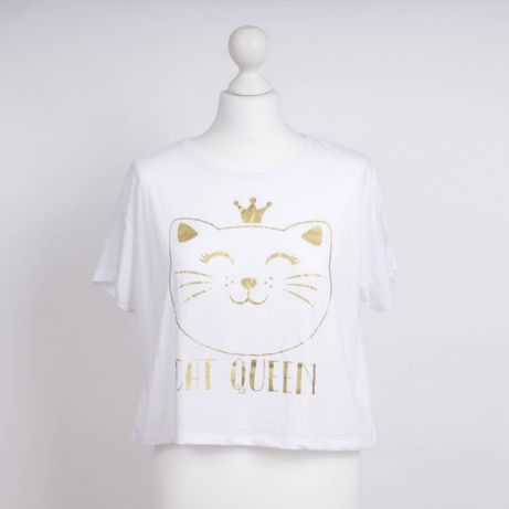 koszulka typu crop Cat Queen
