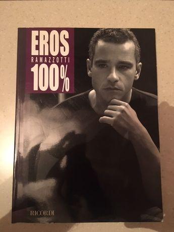 Eros Ramazzotti 100% książka, nuty, akordy, teksty piosenek jak nowa