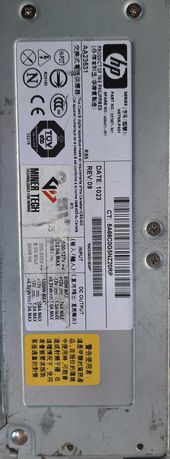 Блок питания для ASIC/майнинга HP HSTNS PA01 80PLUS SILVER 1300w