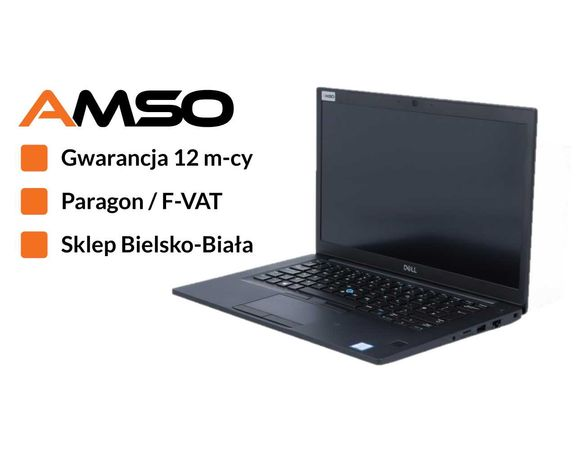 Mocny laptop biznesowy Dell 7490 i5-8350U 16GB RAM dysk SSD Gwarancja
