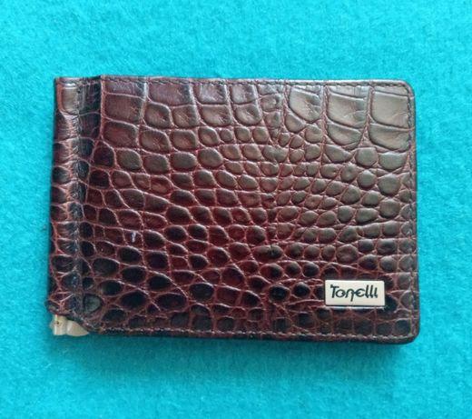 Подарок зажим для денег Tonelli портмоне кошелек бумажник кредитница