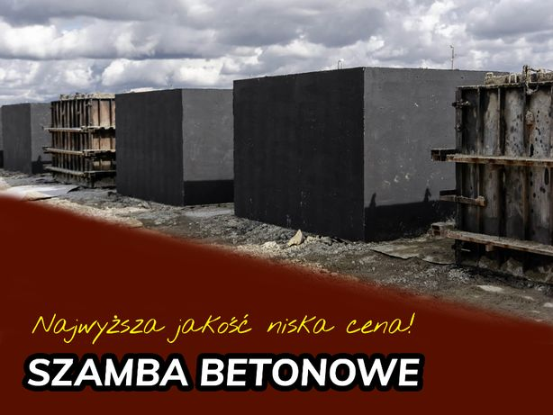 Zbiornik betonowy Szambo betonowe Deszczówka Woda PROGRAM 5000ZŁ+