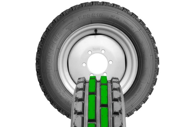 BAZA Koło 7.50-16 TG / POL Agro TUR  Ursus C360 MF felga obręcz opona