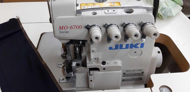 overlock juki 6714s 230 servo szwalnicza maszyna do szycia 4-nitkowy