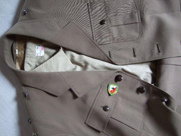 mundur galowy zielony +koszula ,szalik ,komin