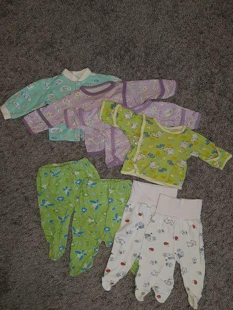 Пакет для новорождённых (кофточки и ползунки)